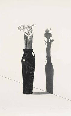 David Hockney, Vase and Flowers, etching and aquatint, 1969