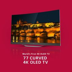 "LG 77"" OLED Ultra HD Curved TV 4K Television"