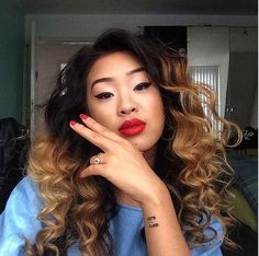 Ombre curls.... Love this look!!