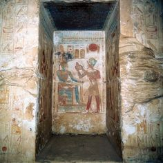 Temple of Seti I at Abydos, Egypt.