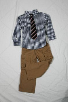 Khaki Cargo Pants - $19.99 & Blue Check Button-Up Shirt - $16.99 by Nevada // available @ Sears Khaki Cargo Pants, Blue Check, Nevada, My Boys, Back To School, Mall, Button Up Shirts, Centre, Chic