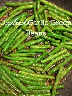 Sauteed Garlic Green Beans. Finally a vegetable dish my kids love! Fresh Cut Green Beans sauteed in butter and garlic? Yes, please!