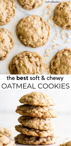 The BEST Oatmeal Cookie Recipe - crispy edges with soft and chewy centers, these oatmeal cookies are easy to make (no chilling, simple ingredients) and out-of-this-world delicious. Add your favorite mix-ins for an extra special twist! Baked at 350 not 375 Healthy Oatmeal Cookies, Oatmeal Cookie Recipes, Easy Cookie Recipes, Homemade Oatmeal Cookies, Soft Chewy Oatmeal Cookies, Soft Baked Cookies, Oatmeal Cinnamon Cookies, Soft Cookie Recipe, Granola Cookies