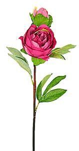 Cerise artificial Poeny rose flower