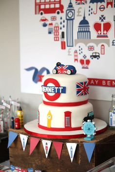 British inspired KEEP CALM themed birthday party - London party? London Theme Parties, British Themed Parties, British Party, London Party, Birthday Bash, Birthday Party Themes, Union Jack, Going Away Parties, Baby Shower