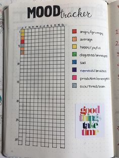 This is a simple mood tracker for your bullet journal that you can use year after year!