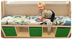 子供部屋のおもちゃ収納だけじゃない!カラーボックスで作るベンチ7選♡