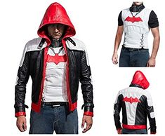 Levi's Women's Two-Pocket Faux Leather Hooded Bomber Jacket with Sherpa, Dark Brown, Small – The Fashion Mart Hooded Bomber Jacket, Batman Arkham, Red Hood, Dc Heroes, Dark Knight, Leather Jackets, Rib Knit, The Darkest, Motorcycle Jacket