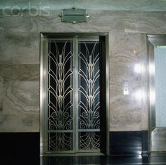 Art Deco elevator door in the entrance lobby of 275 Madison Avenue. New York.  I'm dying to do a hometown building in all silvers, onyx, stainless, with black.  Any takers?