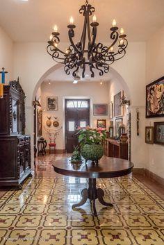 entryway on house tour in Merida Mexico