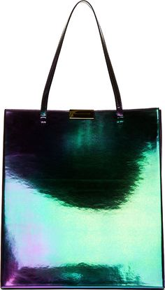 5a1766b8d13 Stella McCartney Purple  amp  Green Faux-Leather Oleo Prisma Tote My Bags,  Beautiful