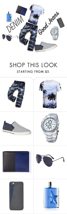 """""""denim distress"""" by neavah ❤ liked on Polyvore featuring White Stuff, Diesel, FOSSIL, Thierry Mugler, men's fashion and menswear"""