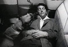 Dean and dog Martin King, Dean Martin, Old Hollywood Stars, Classic Hollywood, Star Wars, Jerry Lewis, Old Movie Stars, Mr Wonderful, Old Movies
