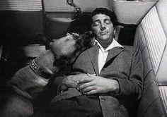 Dean and dog Martin King, Dean Martin, Old Hollywood Stars, Classic Hollywood, Vintage Hollywood, Martin Peters, Joey Bishop, Peter Lawford, Sammy Davis Jr