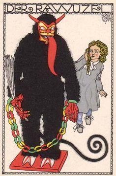 ¤ Wiener Werkstatte postcard Josef Diveky. Der Rawuzel