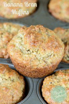 A delicious banana bran muffin - SO good and healthy! | via bakedbyanintrovert.com