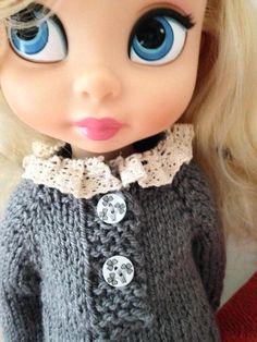 Doll Clothes / Disney Animator Doll Cinderella / Knitting
