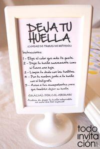 Cuadros de firmas con huellas en tu boda o celebración (árbol de huellas) | Diseño de invitaciones originales y muchas ideas +: