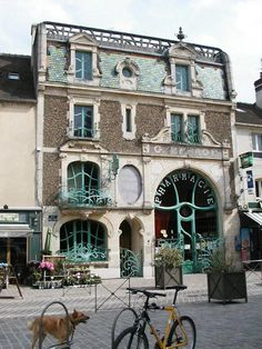 Rovray: Pharmacy Lesage (1901), F-14440 Douvres-la-Délivrande (Calvados) FRANCE----see other pin for closeup of just the pharmacy