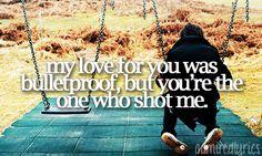 35/100 Favourite Lyrics - Bulletproof Love- Pierce the Veil