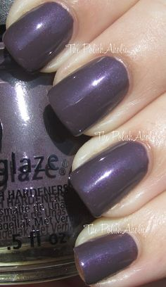 China Glaze - Jungle Queen is a dark smoky purple/grey/brown with a subtle purple shimmer.