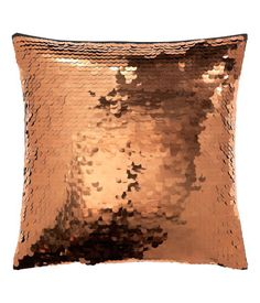Cushion cover with sequins at front and cotton at back. Concealed zip. Size 16 x 16 in.
