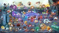 Download League of Legends Poro Champions Wallpaper 2560x1440