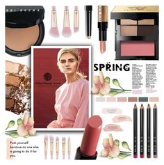 """Spring Beauty"" by crochetragrug ❤ liked on Polyvore featuring beauty, Bobbi Brown Cosmetics, Maybelline and H&M"