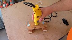 how to turn your rotary tool into  small router (wooden rotary tool  base)