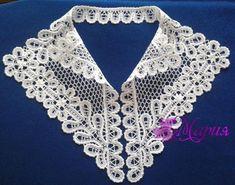 Crochet Lace Collar, Point Lace, Crochet Necklace, Clothes, Fashion, Lace, Crocheting, Bobbin Lace, Headscarves