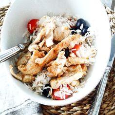 Salade de riz au poulet épicé