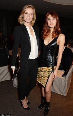 Eva Herzigova and Olga Kurylenko met up at the Francis Ford CoppolaLiberatum Cultural Honour Dinner at The Bulgari Hotel in London