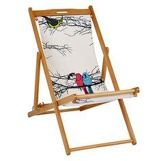 John Lewis Birds Deck Chair Sling