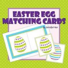 Easter Egg matching cards - a great visual discrimination activity for preschool, pre-k, or busy bags.