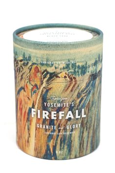 Thrilling notes of fresh cedar wood, embellished with brisk granite and sumptuous black sage make up this luxurious candle seeking to capture the once upon a time experience of bowls of blazing ember cascading over Glacier Point's 3000 foot face.