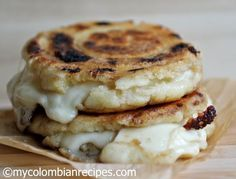 Cheese Stuffed Corn Cakes (Arepas Rellenas de Queso)
