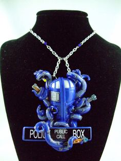 Hand Sculpted - Doctor Who Statement Necklace