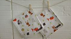 Baby Burp Cloths Set of 2-Woodland by SouthernPeachShop on Etsy
