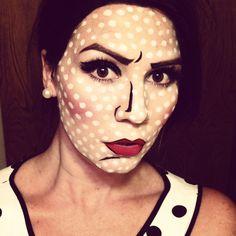 Roy Lichtenstein comic book pop art makeup