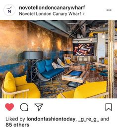 A stunning hotel @novotellondoncanarywharf is where you can see 2 of my pieces installed directly. The work itself is on steel and weighs 1/2 tonne in weight. . #art #artist #artwork #artnews #abstract #abstractart #abstraction #hotel #London #hautecouture #design #blue #steel #buyart #coffee #relaxing #lounge #installationart #interiordesign #coffehouse #modernartist #newart #originalart #painting #texture #historia