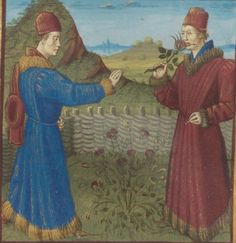 Le Roman de la Rose, par GUILLAUME DE LORRIS et JEAN DE MEUNG. Date d'édition : 1401-1500 Type : manuscrit