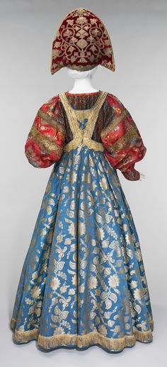 19th century traditional Russian costume and kokoshnik from the collection of Natalia de Shabelsky (1841-1905). (http://www.metmuseum.org/)