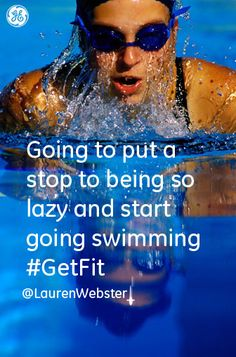 Going to put a stop to being so lazy and start going swimming (as soon as I can...)