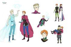 """the art of doro: genderbent """"Frozen"""""""