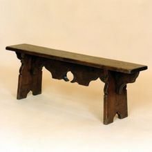 Tudor Form, designed and made in solid oak by Stuart Interiors Outdoor Furniture, Outdoor Decor, Solid Oak, Dining Bench, Tudor, Oak Chairs, Wood, Interiors, Design