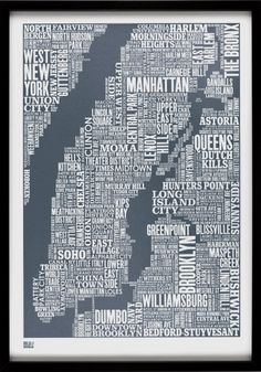 BODIE AND FOU Type map print - NYC
