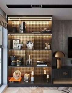 Shelving Design, Shelf Design, Cabinet Design, Niche Design, Wall Design, Interior Design Inspiration, Home Interior Design, Interior Architecture, Home Office Design