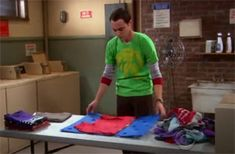 """On September 22, 2008 FlipFold appeared on the hit TV show """"The Big Bang Theory"""" season premiere. The episode opens with Sheldon, one of the shows' witty characters, folding his laundry with the FlipFold! He even fold his socks with the FlipFold! It is a great scene- the FlipFold loved the spotlight! #MadeinUSA via BuyDirectUSA.com Repin - Like – Share"""