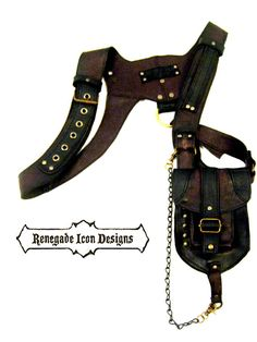 Leather, Holster, bag,  burning man, mad max, tank girl, single shoulder: Renegade Icon Designs,