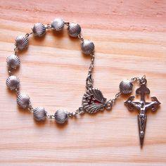 Camino De Santiago Bracelet Rosary St. James Scallop Shell Pilgrim